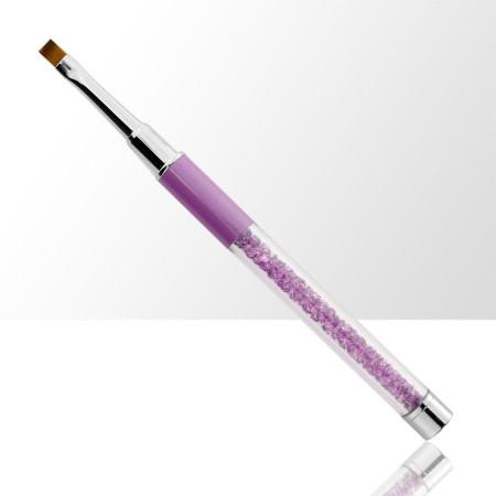 Štetec na gél č. 4 fialový s prírodnými štetinami NechtovyRAJ.sk - Daj svojim nechtom všetko, čo potrebujú