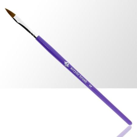 Štetec na akryl č. 6 - fialový