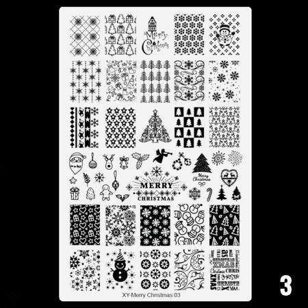 Doštička M typ XY - Merry Christmas 003 nechtovyraj