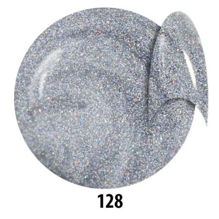 Farebný glitorvý uv gél NTN 128 5g
