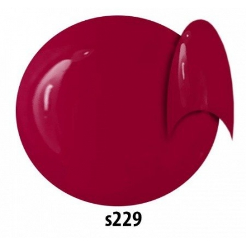 Farebný  uv gél červený amaranth  NTN S229 5g -  nechtovyraj.sk