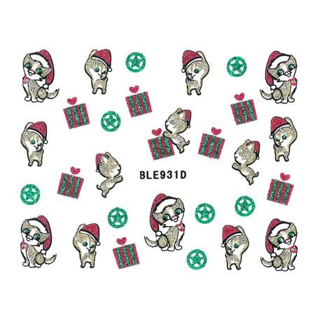 Vianočná glitrová nálepka na nechty 931 NechtovyRAJ.sk - Daj svojim nechtom všetko, čo potrebujú