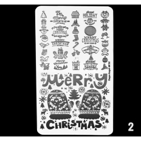 Doštička na pečiatkovanie MC02 Merry Christmas NechtovyRAJ.sk - Daj svojim nechtom všetko, čo potrebujú