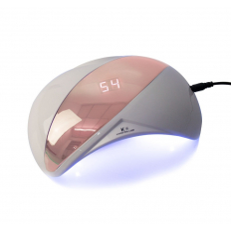 UV LED lampa na nechty 48 W - K1 ružová so senzorom a displejom