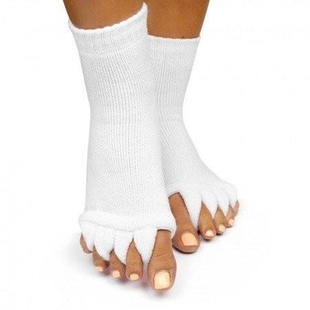 Ponožky na pedikúru biele NechtovyRAJ.sk - Daj svojim nechtom všetko, čo potrebujú