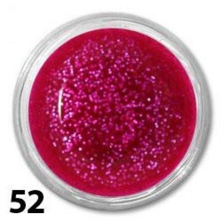 Akrylová farba 10 ml - ružová s glitrami nechtovyraj