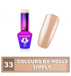 33. Gél lak na nechty Colours by Molly 10 ml
