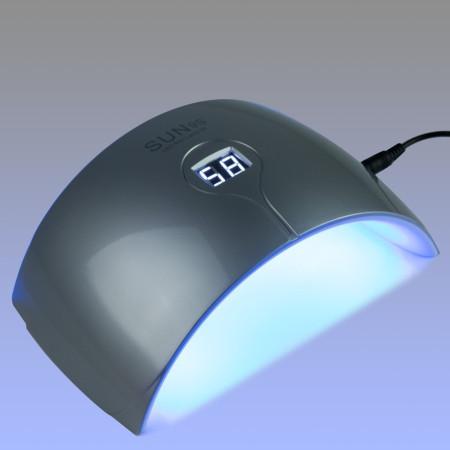 SUNS - UV/LED lampa- 24 W strieborná so senzorom a displejom - NechtovyRAJ.sk