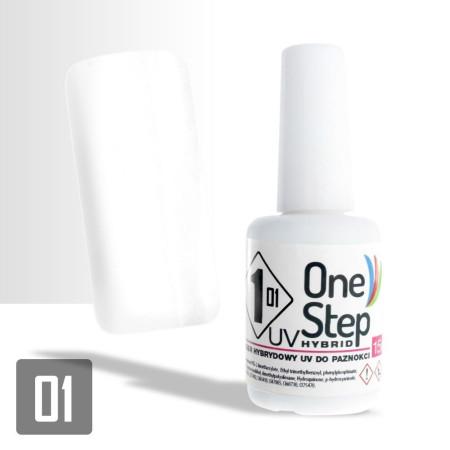 Gél lak One step NR   3v1  15 ml - biely - NechtovyRAJ.sk