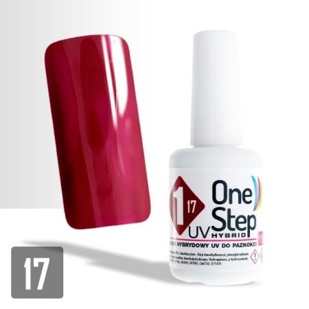 17. Gél lak One step NR 3v1 15 ml - Višňový