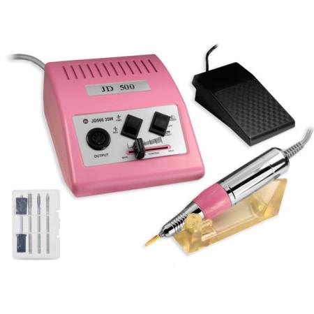 Elektrická brúska na nechty JD 500 - ružová 40W NechtovyRAJ.sk - Daj svojim nechtom všetko, čo potrebujú