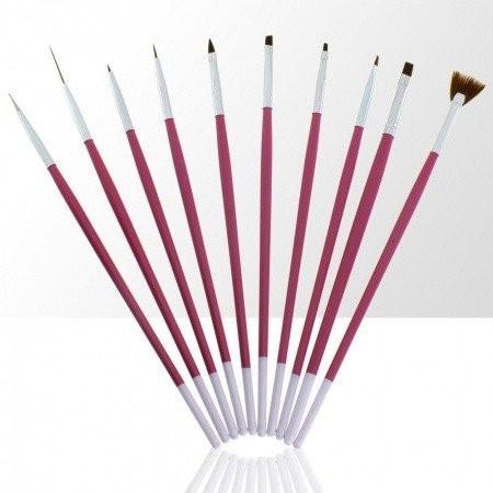 Sada štetcov pre nail art ružová 10 ks NechtovyRAJ.sk - Daj svojim nechtom všetko, čo potrebujú