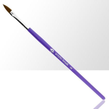 NechtovyRAJ štetec na akryl č. 8 - fialový NechtovyRAJ.sk - Daj svojim nechtom všetko, čo potrebujú