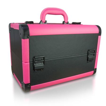NechtovyRAJ kozmetický kufrík s eko kože - čierno ružový