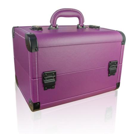 NechtovyRAJ kozmetický kufrík s eko kože - fialový