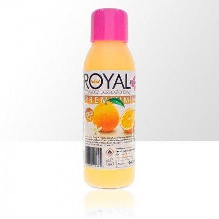Odlakovač Royal premium - bezacetónový - vôňa pomaranč, 100ml NechtovyRAJ.sk - Daj svojim nechtom všetko, čo potrebujú