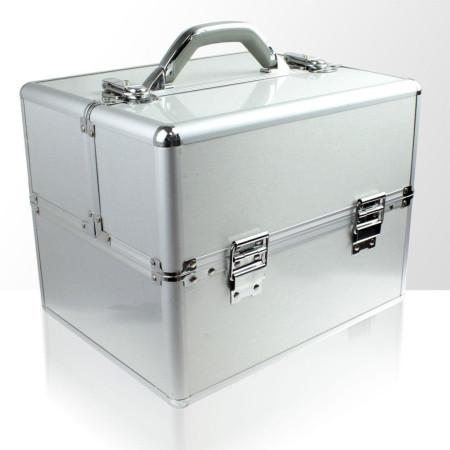 NechtovyRAJ kozmetický kufrík strieborný NechtovyRAJ.sk - Daj svojim nechtom všetko, čo potrebujú