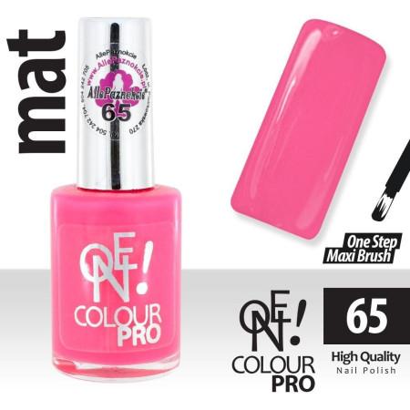 Lak na nechty-ONE COLOUR MAT 65 ružový - 15 ml