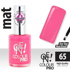 Lak na nechty-ONE COLOUR  MAT 65 ružový - 15 ml