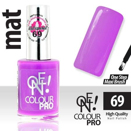 Lak na nechty-ONE COLOUR MAT 69 fialový - 15 ml NechtovyRAJ.sk - Daj svojim nechtom všetko, čo potrebujú