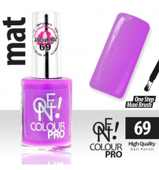 Lak na nechty-ONE COLOUR  MAT 69 fialový - 15 ml