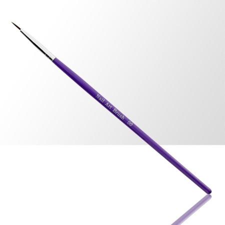 Štetec na zdobenie fialový 8 mm