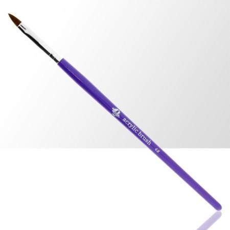 NechtovyRAJ štetec na akryl č. 4 - fialový NechtovyRAJ.sk - Daj svojim nechtom všetko, čo potrebujú