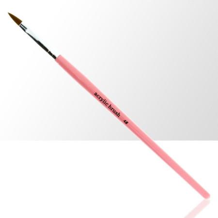 Štetec na akryl č. 4 - ružový NechtovyRAJ.sk - Daj svojim nechtom všetko, čo potrebujú
