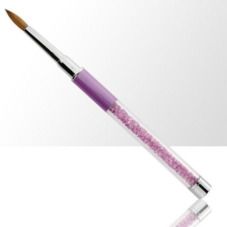 NechtoRAJ štetec na akryl č. 8 fialový s prírodnými štetinami
