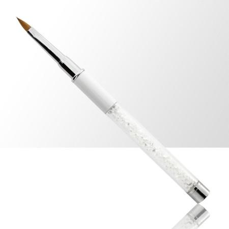 NechtoRAJ štetec na akryl č. 4 biely s prírodnými štetinami NechtovyRAJ.sk - Daj svojim nechtom všetko, čo potrebujú