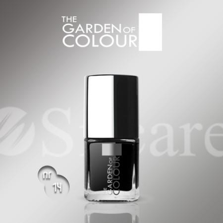 Silcare lak na nechty 14 Garden of Colour 9 ml - čierny - NechtovyRAJ.sk