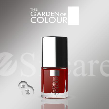 Silcare lak na nechty 18 Garden of Colour 9 ml - červený - NechtovyRAJ.sk