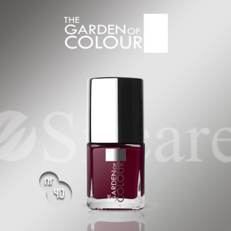 Silcare lak na nechty 40 Garden of Colour 9 ml - červená