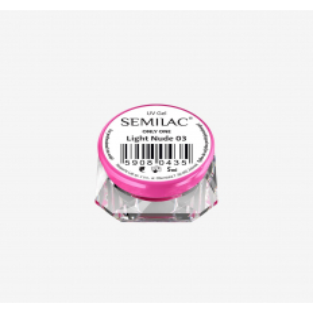 Semilac ONLY ONE uv gél Light Nude 03 5 ml