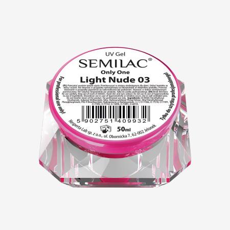 Semilac ONLY ONE uv gél Light Nude 03 50 ml