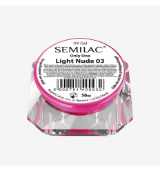 Semilac ONLY ONE uv gél Light Nude 03  50 ml