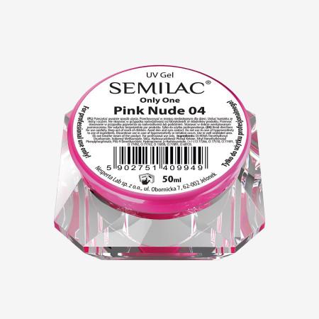 Semilac ONLY ONE uv gél Pink Nude 04 50 ml NechtovyRAJ.sk - Daj svojim nechtom všetko, čo potrebujú
