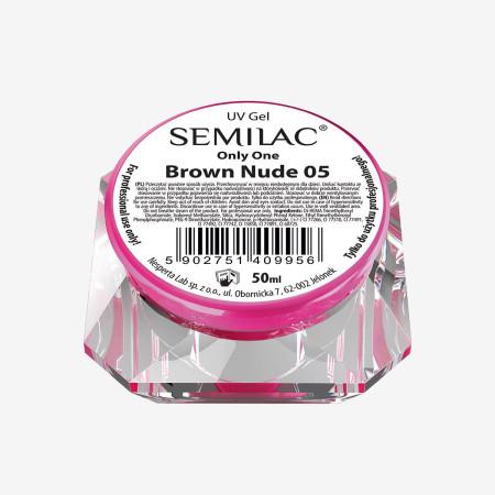 Semilac ONLY ONE uv gél Brown Nude 05 50 ml NechtovyRAJ.sk - Daj svojim nechtom všetko, čo potrebujú