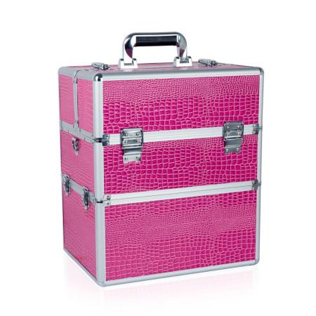NechtovyRAJ dvojdielny kozmetický kufrík ružový krokodí