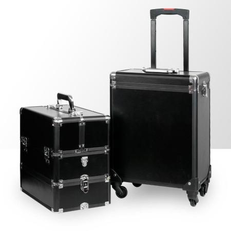 Kozmetický kufrík veľký 2v1 čierny - NechtovyRAJ.sk