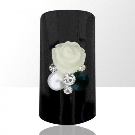 Bijou luxury ozdoba na nechty kvietok krémový 576