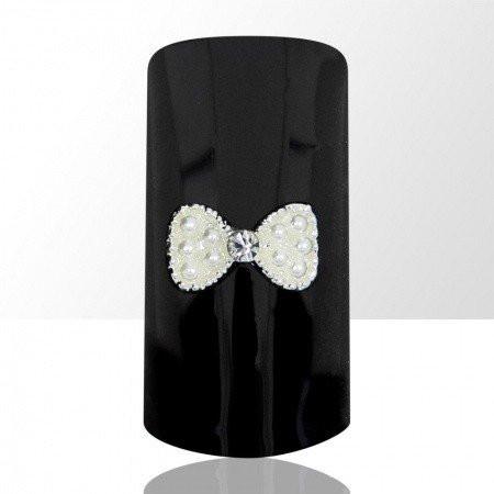 Bijou luxury ozdoba na nechty mašlička s perličkami C16