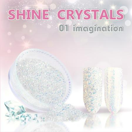 Prášok na nechty Shine crystal effect 01