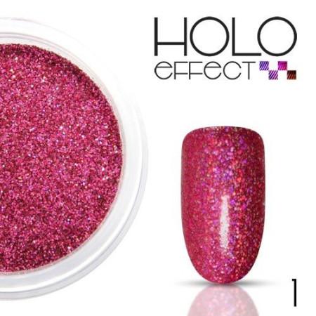 Allepaznokcie prášok na nechty HOLO efekt 01 ružový 3g