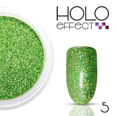 Allepaznokcie prášok na nechty HOLO efekt 05 zelený 3g