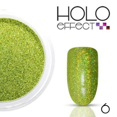 Allepaznokcie prášok na nechty HOLO efekt 06 zelený 3g - NechtovyRAJ.sk