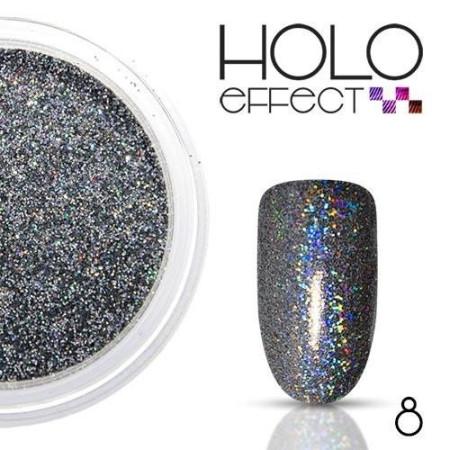 Allepaznokcie prášok na nechty HOLO efekt 08 grafit 3g