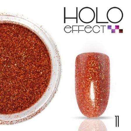 Allepaznokcie prášok na nechty HOLO efekt 11 červený 3g
