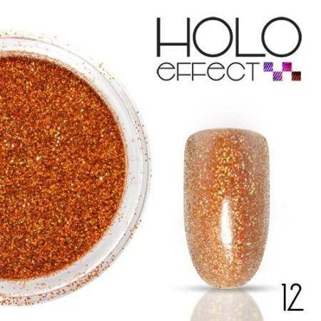 Allepaznokcie prášok na nechty HOLO efekt 12 oranžový 3g