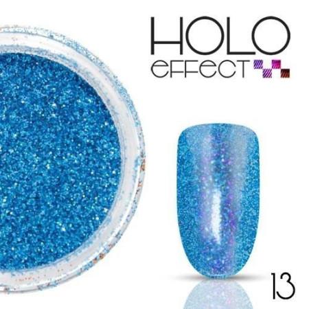 Allepaznokcie prášok na nechty HOLO efekt 13 modrý 3g
